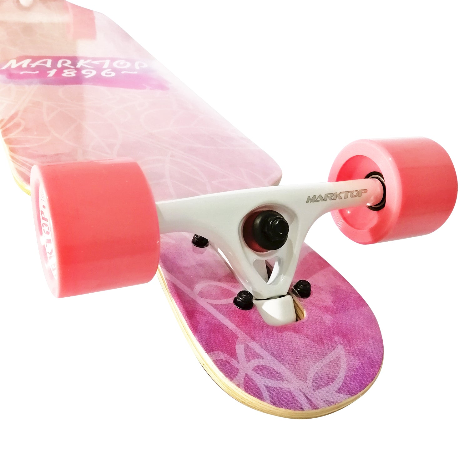 "Chaser 41"" Marktop 7-Ply 1896 Maple Wood Longboard-Daydream Pink"
