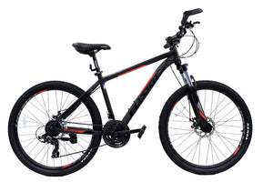 "Fusion Force Alloy 26""/27.5""/29""-Matte Black/Red"
