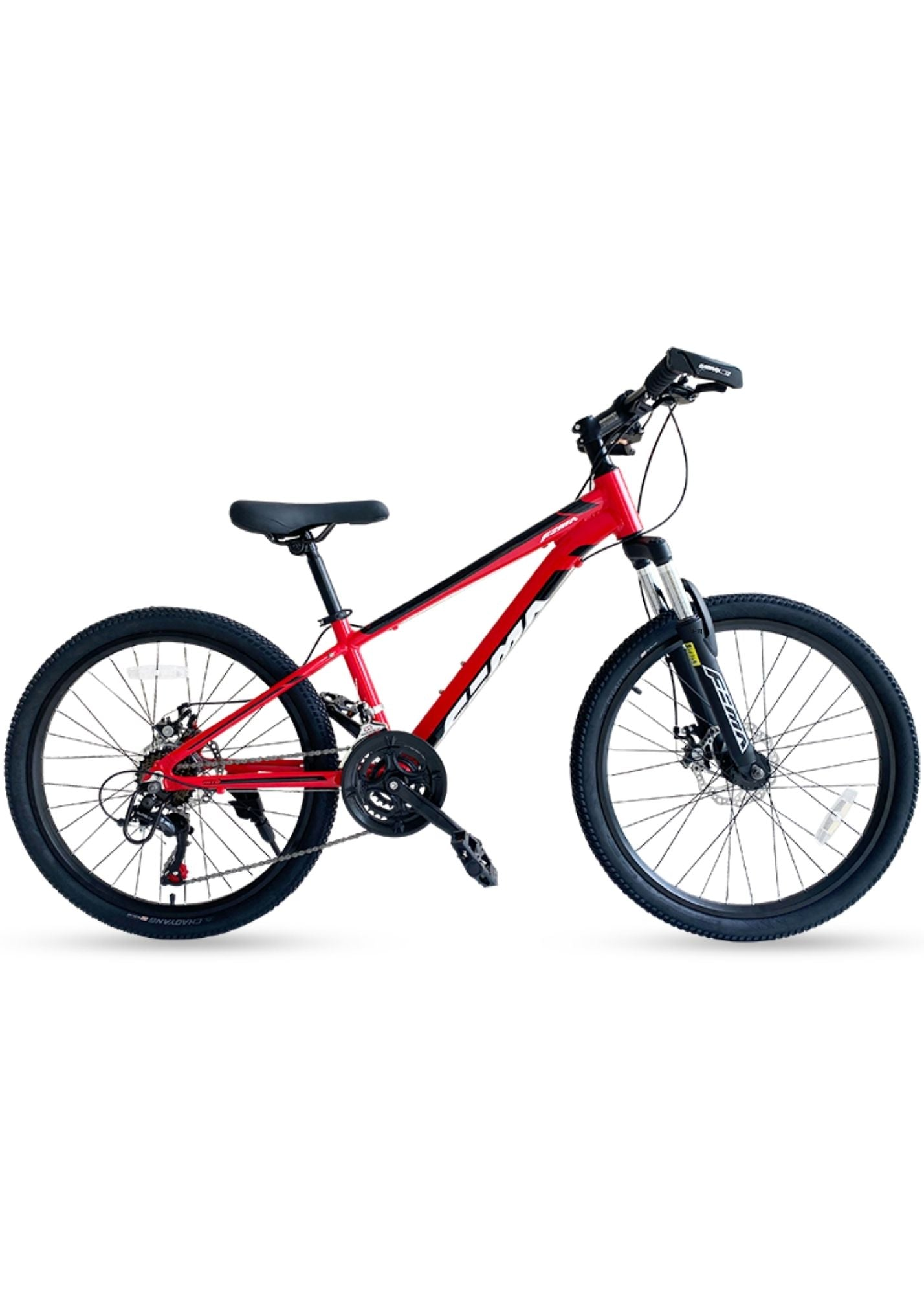 "RoyalBaby RoyAlloy Mountain Bike 24"" 21-S(24-25)-Red"