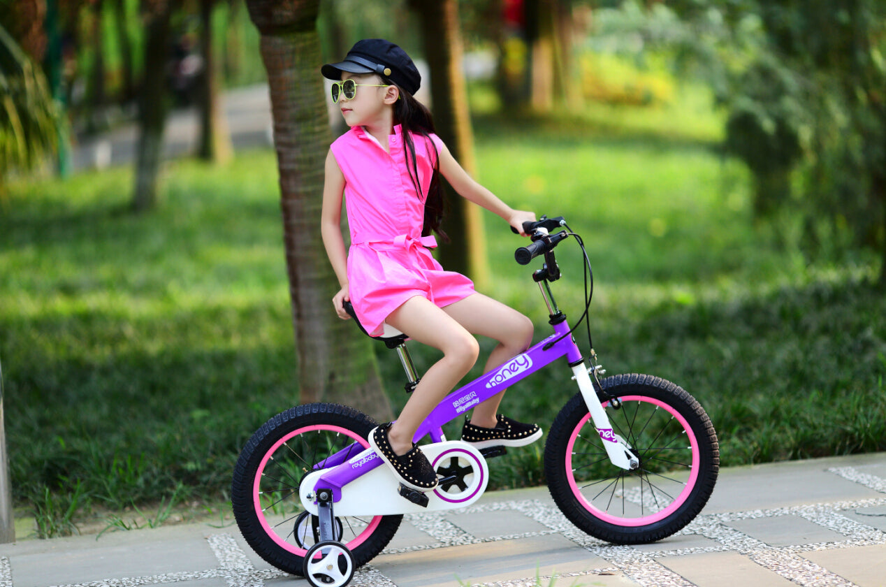 "RoyalBaby Honey Kids Bicycle 12"" Purple"