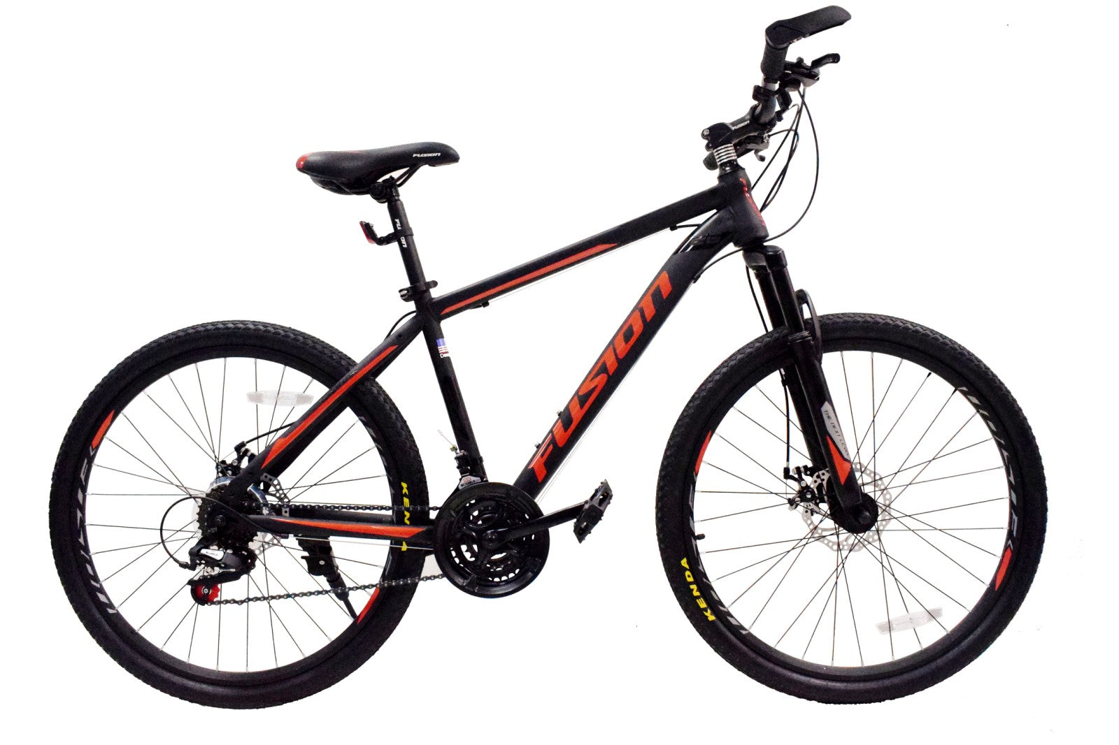 "Fusion Rift Steel MTB 26""/27.5""-Matte Black/Red"