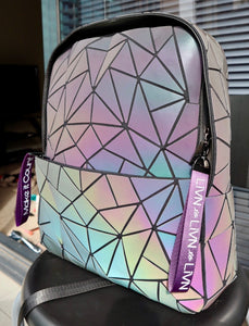 'Comma comma Chameleon' Holographic Prism Bag