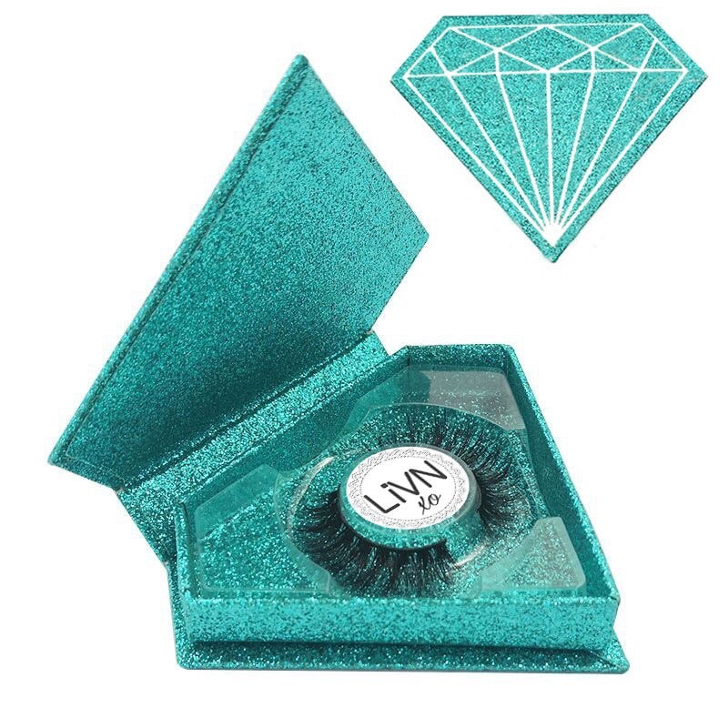 'Everyday Diva' - 100% Mink LASHES (Aqua) up to 20 wears