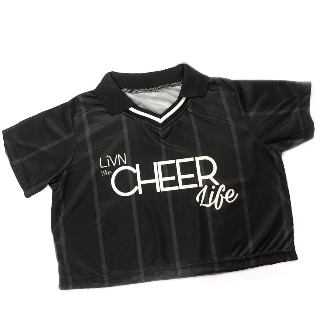 It's a Keeper - LiVN the Cheer life - Cropped Soccer Jersey