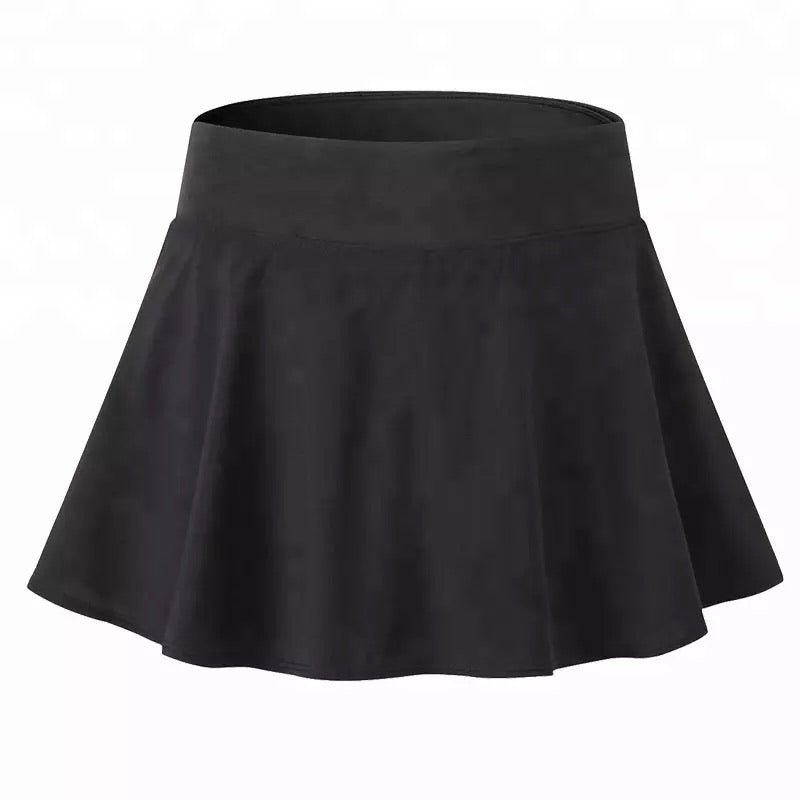 'Hey Girl' Flouncy Skirt - BLACK