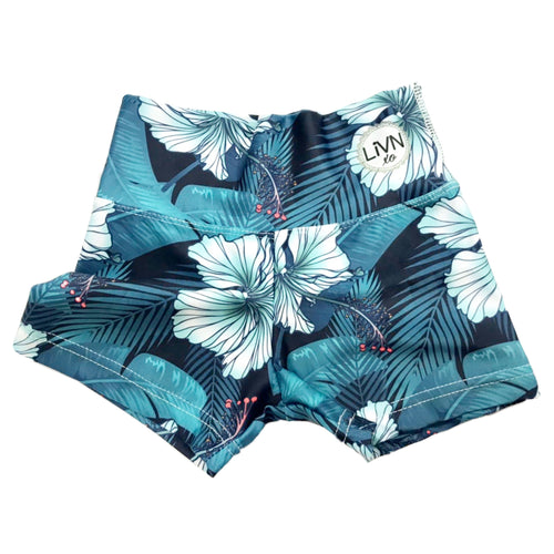 LiVN in Paradise - Hibiscus Booty Shorts