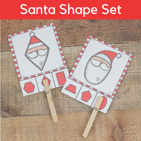 Santa Shape Activities Set