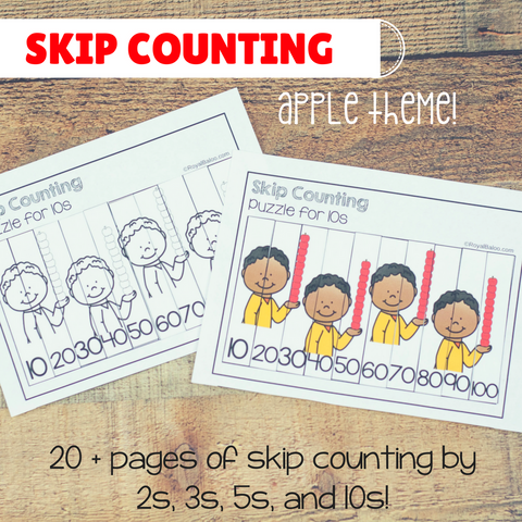 Apple Skip Counting Set