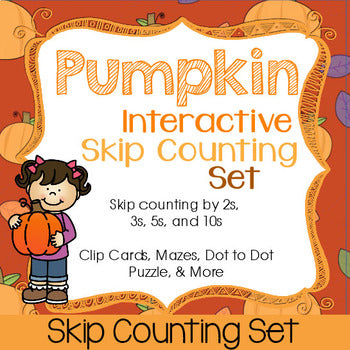 Pumpkin Skip Counting Set