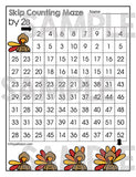 Thanksgiving Skip Counting Set