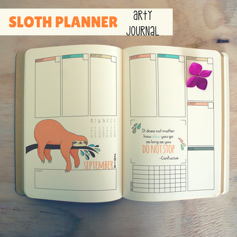 Sloth Arty Journal