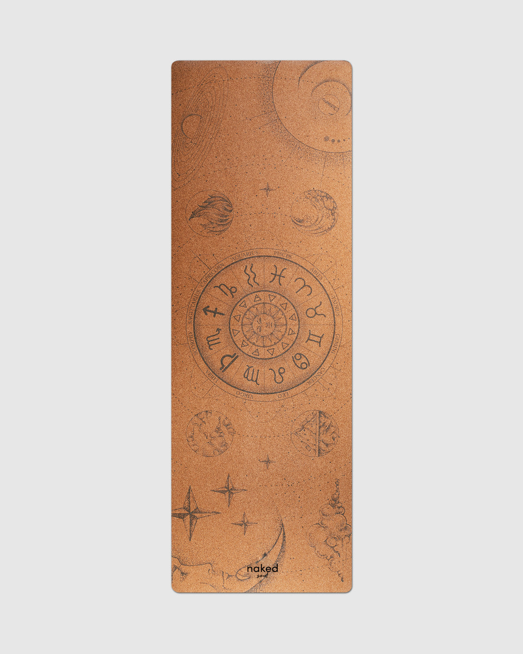 Signs of the Zodiac Cork Yoga Mat