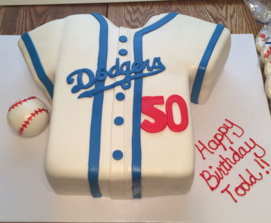 Sports Team Dodger Jersey cake with your favorite team jersey
