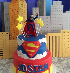 Superman Marvel Comics Cake