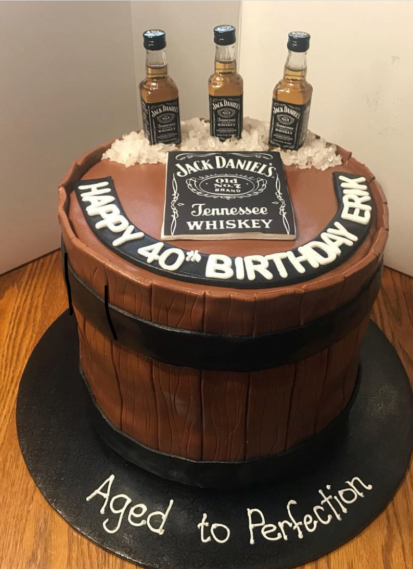 Liquor Cake customized with your favorite alcohol brand