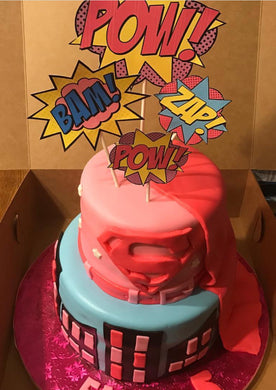 Super Woman Marvel Comics Cake