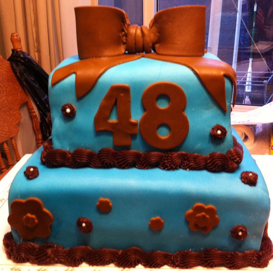 Age display customized cake with any colors and design