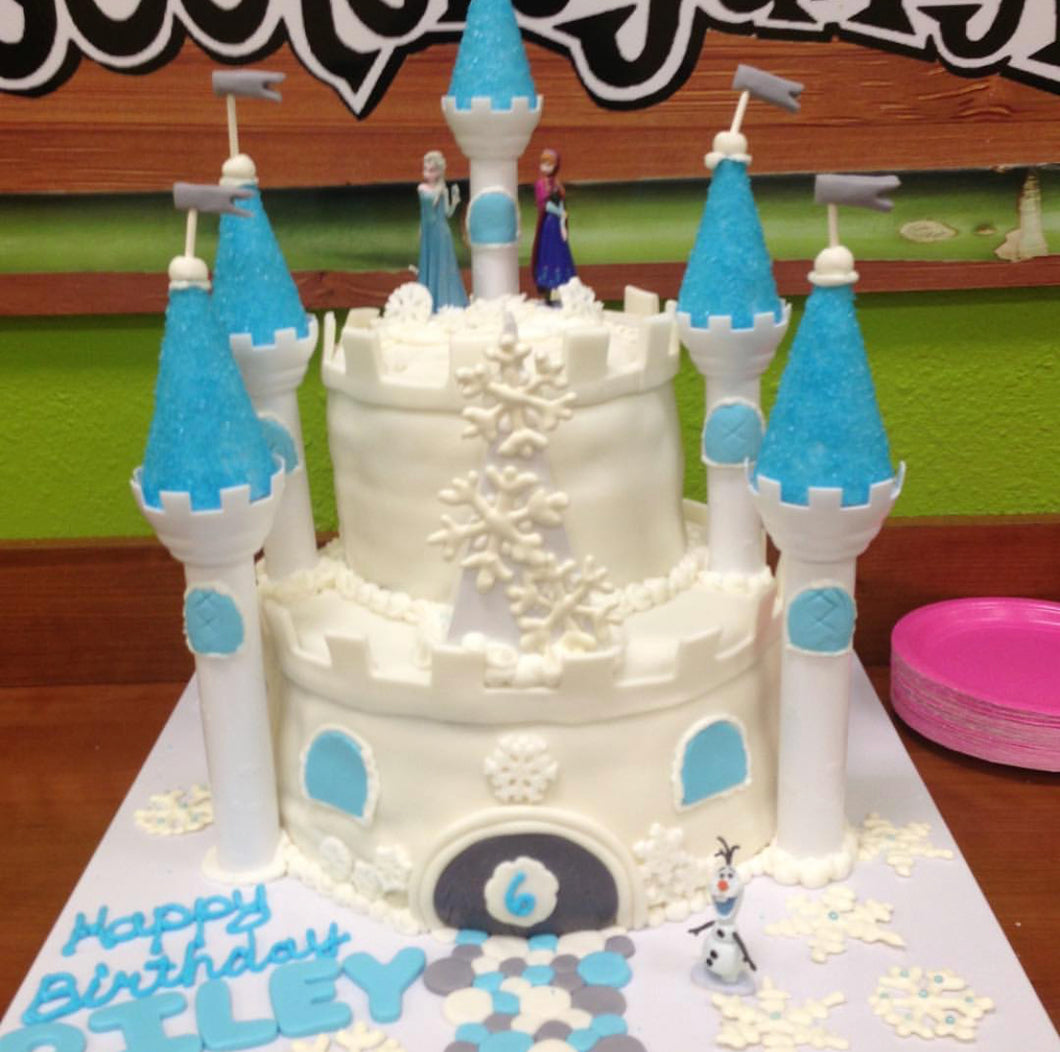 Frozen Disney Castle 2 Tier Cake