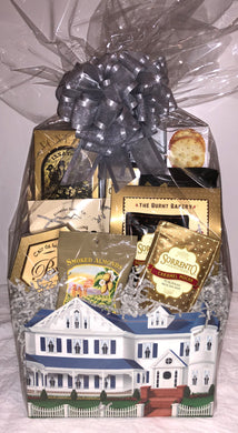 Welcome Home Gift Basket with Grey Bow