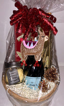 Load image into Gallery viewer, Llama Wine and Candle Gift Basket