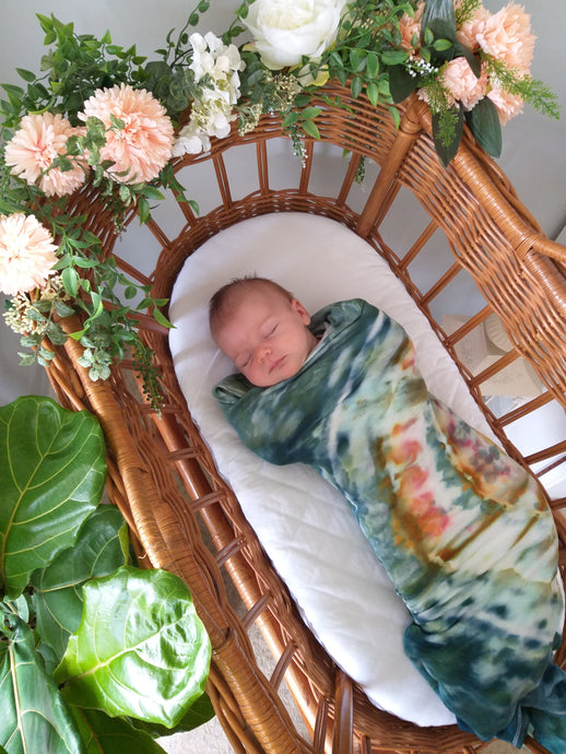 Custom Dyed Bamboo Stretch Jersey Swaddles