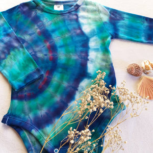 Tie Dyed Long Sleeve Onesie