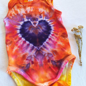 Custom Tie Dyed Short Sleeve Onesie