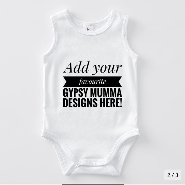 Custom Sleeveless Onesie