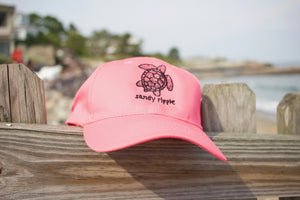 Neon Pink Sea turtle Hat