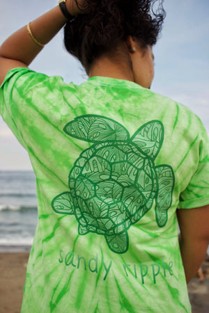 Tie-Dye Green Sea Turtle T-Shirt