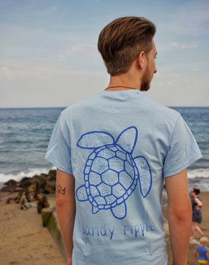 Light Blue Ocean Vibes Sea Turtle T-Shirt