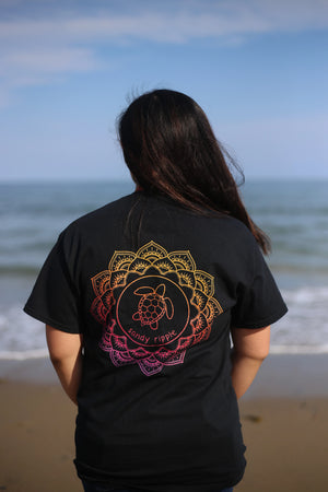 Black Mandala Sea Turtle T-Shirt