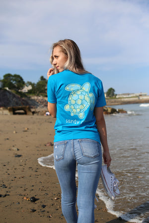 Turquoise Blue Green Sea Turtle T-Shirt