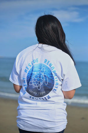 Rescue Rehabilitate Release Repeat Sea Turtles T-Shirt