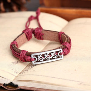 Leather Cuff Braided Wrap Bracelet