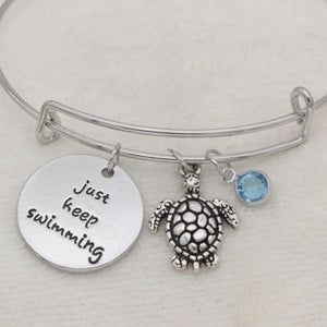 Just Keep Swimming Adjustable Bangle