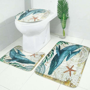 3pcs Toilet Seat Cover Set