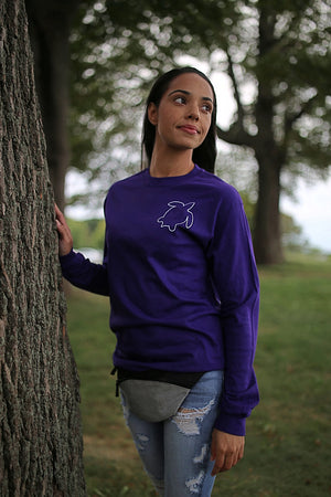 Original Ripple In Purple Long Sleeve T (Front+Back)