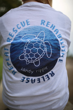 Rescue Rehabilitate Release Repeat Short Sleeve T (Front+Back)