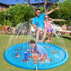 Sprinkle Pad Splash Play Mat, Inflatable Outdoor Water Toys for Children