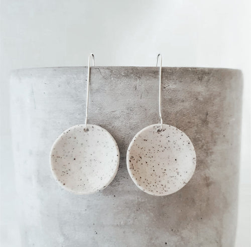 Concaved Ceramic Earrings
