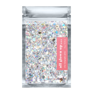 Silver Holographic Chunky Glitter - All Glown Up