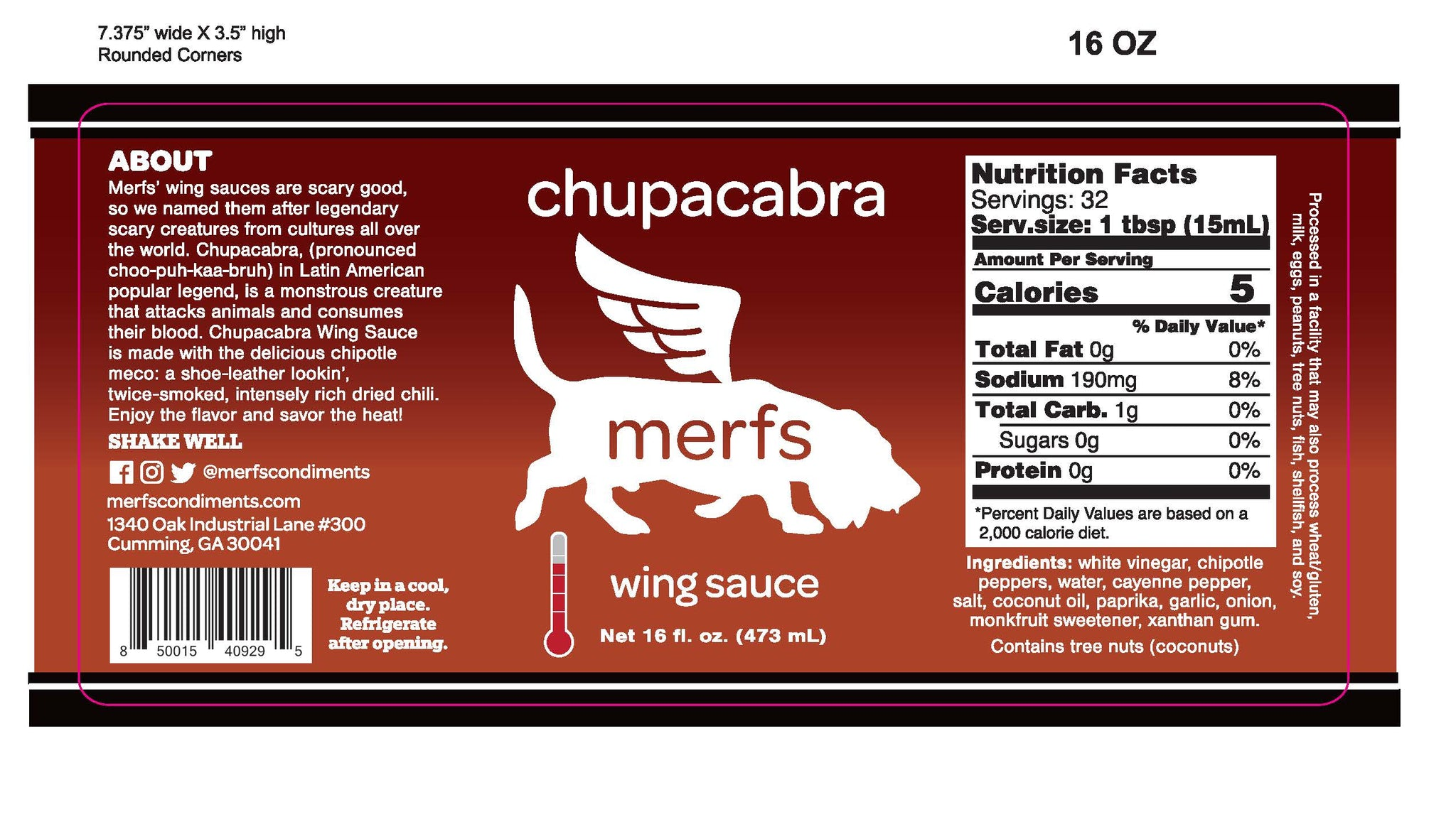 Chupacabra Chipotle Wing Sauce - Merfs Condiments