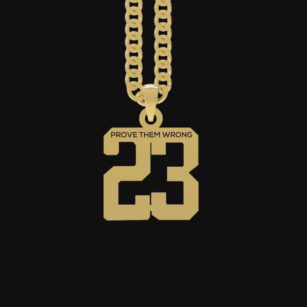 Custom Number Pendant [GOLD]
