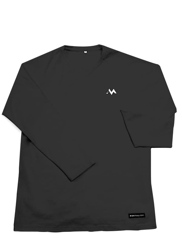 Essential Long Sleeve Shirt ( Black )
