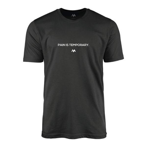 PAIN IS TEMPORARY - BLACK TEE