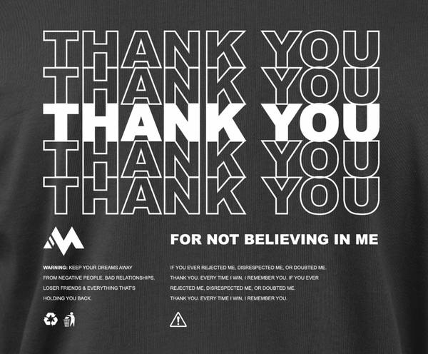 THANK YOU - BLACK TEE