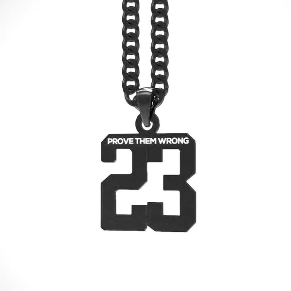 Custom Number Pendant [Black]