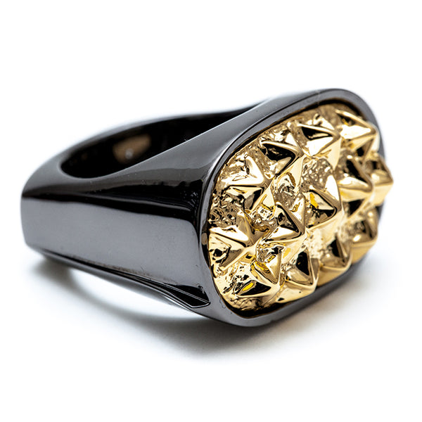"【SALE 30%OFF】IKURA ""イクラ軍艦"" RING Gold/Gunmetal"