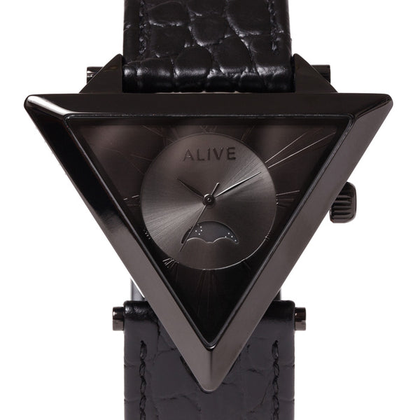 【キズあり/50%OFF】 A-FRAME  MOONPHASE  Black / Black Croco